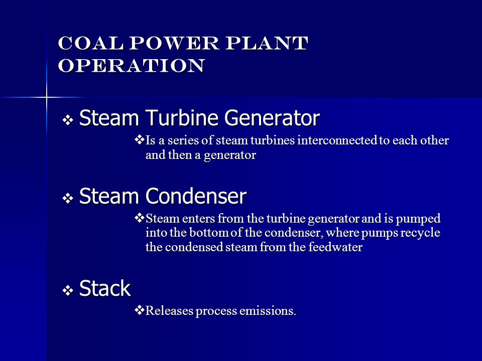 Coal Power Plant Operation
