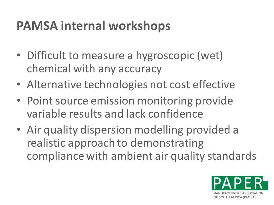 PAMSA internal workshops