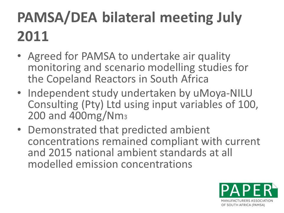 PAMSA/DEA bilateral meeting July 2011
