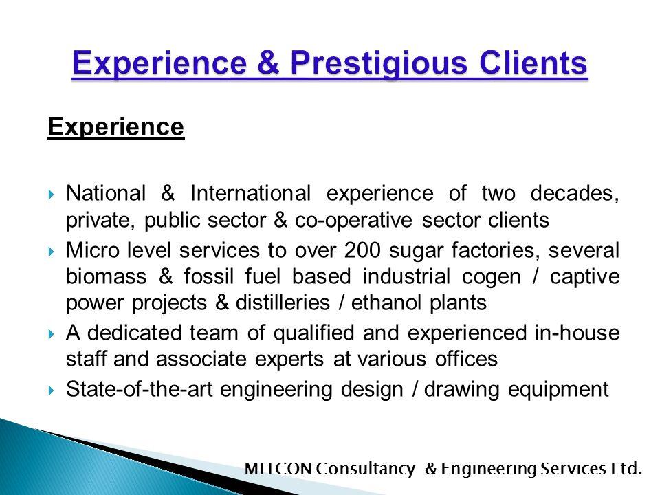 Experience & Prestigious Clients
