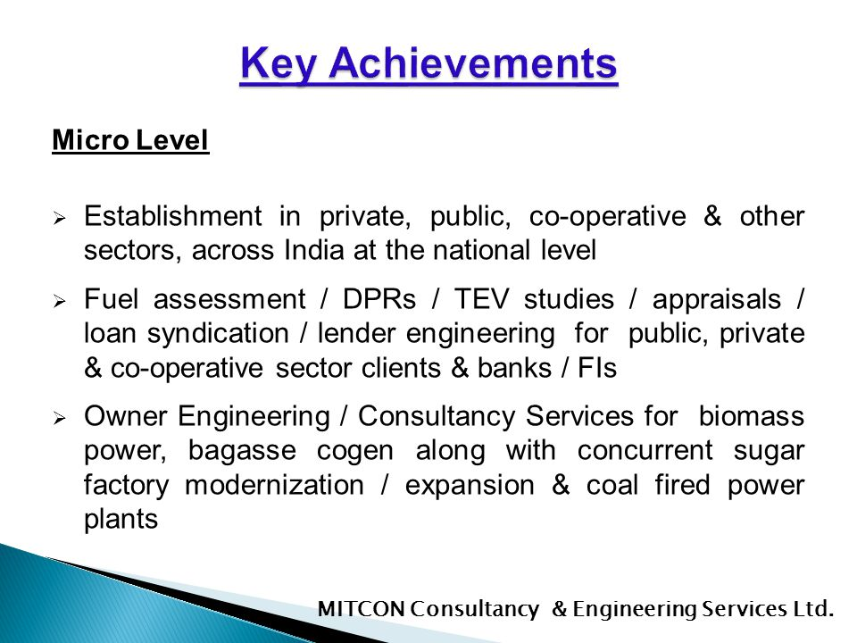 Key Achievements Micro Level