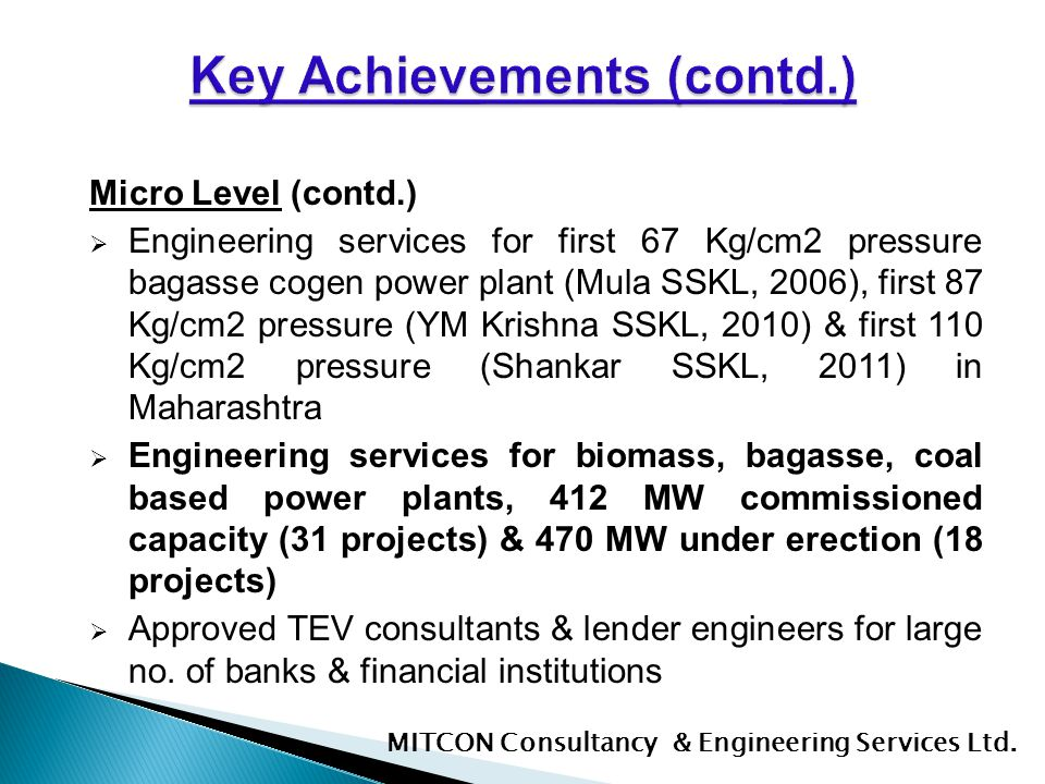 Key Achievements (contd.)