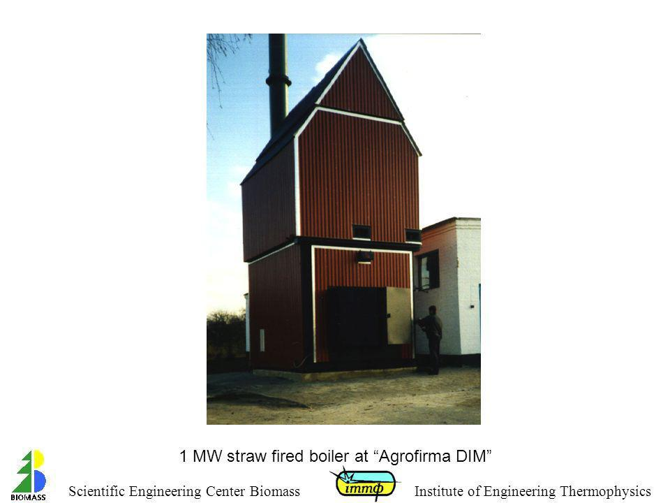 1 MW straw fired boiler at Agrofirma DIM