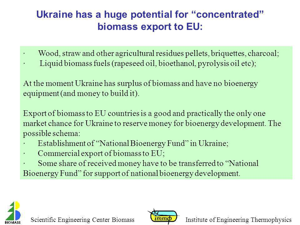 Ukraine has a huge potential for concentrated biomass export to EU: