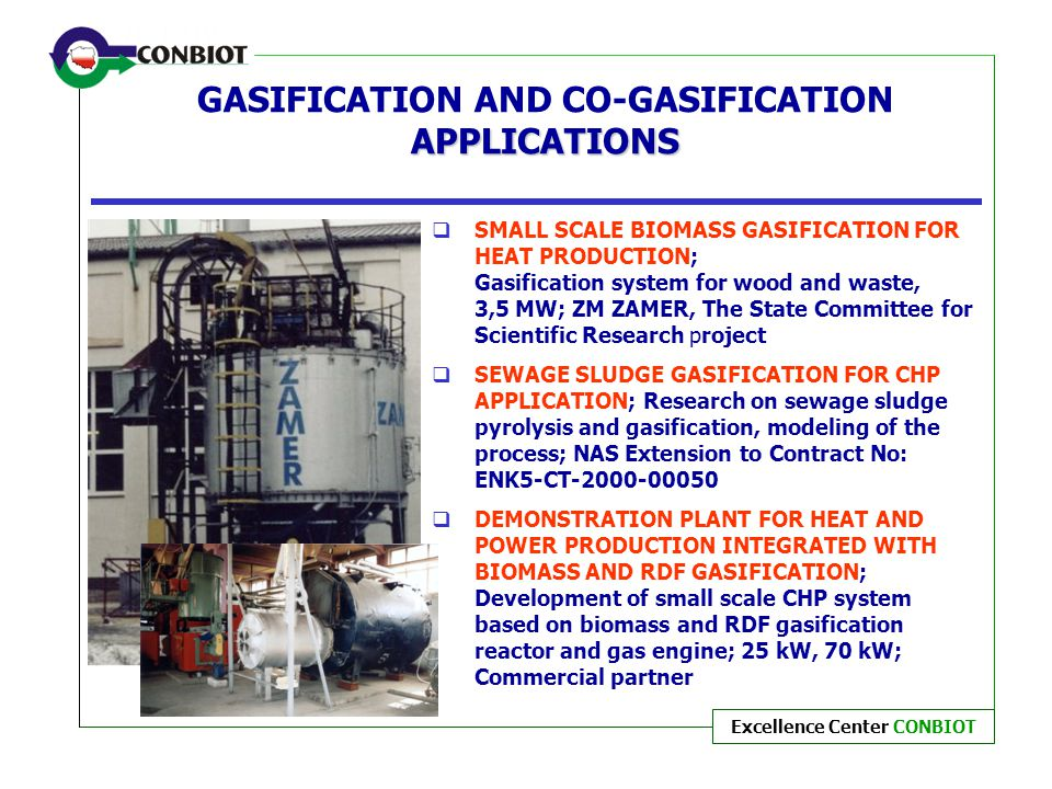 GASIFICATION AND CO-GASIFICATION APPLICATIONS