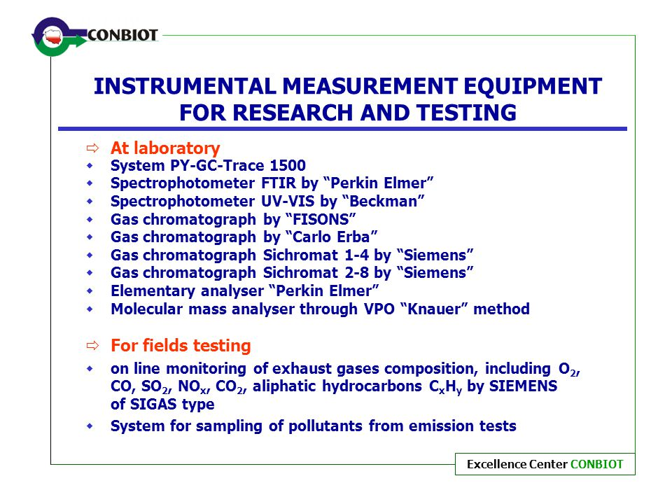 INSTRUMENTAL MEASUREMENT EQUIPMENT FOR RESEARCH AND TESTING