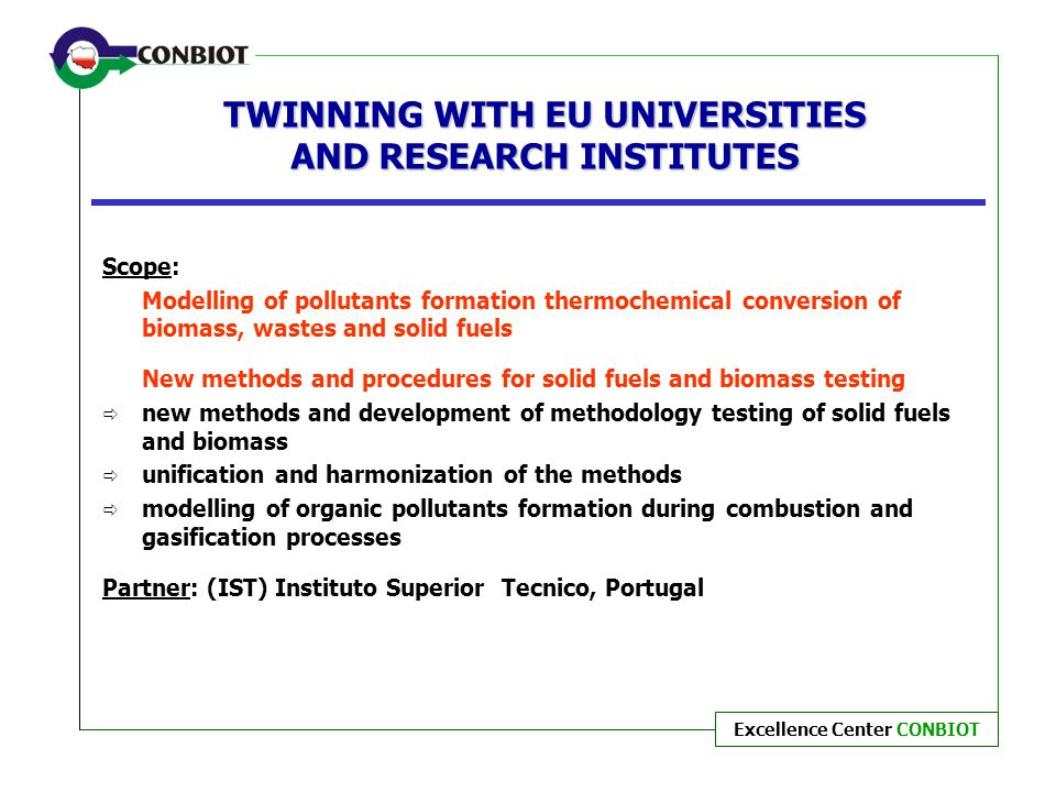 TWINNING WITH EU UNIVERSITIES AND RESEARCH INSTITUTES