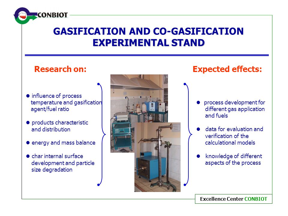 GASIFICATION AND CO-GASIFICATION EXPERIMENTAL STAND