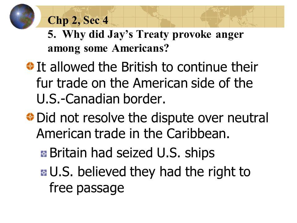 Britain had seized U.S. ships