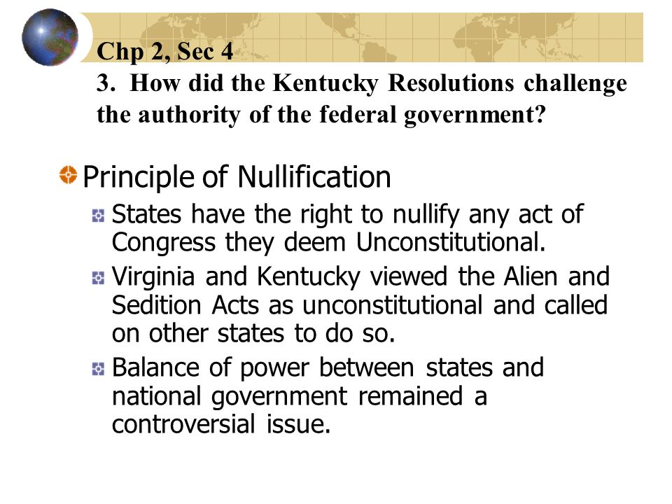 Principle of Nullification