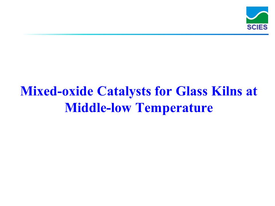 Mixed-oxide Catalysts for Glass Kilns at Middle-low Temperature