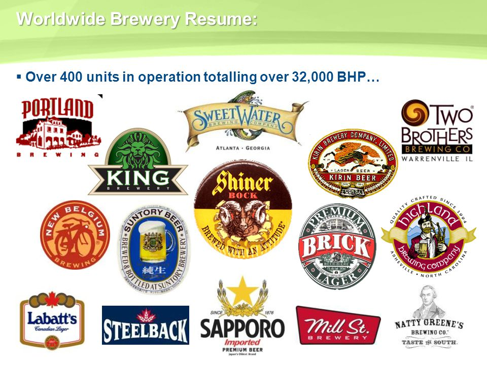 Worldwide Brewery Resume: