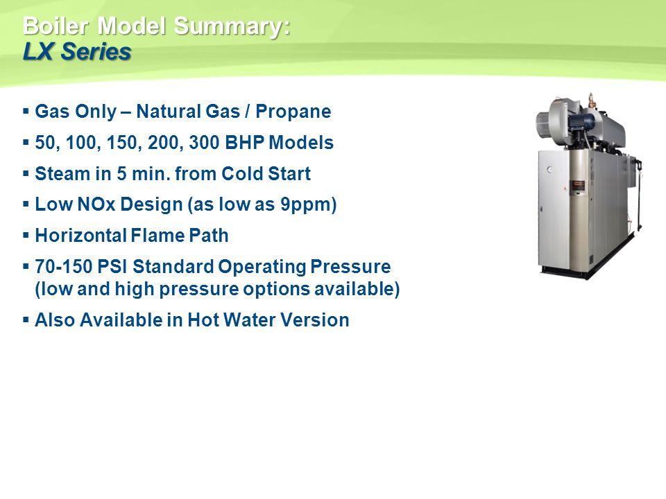Boiler Model Summary: LX Series