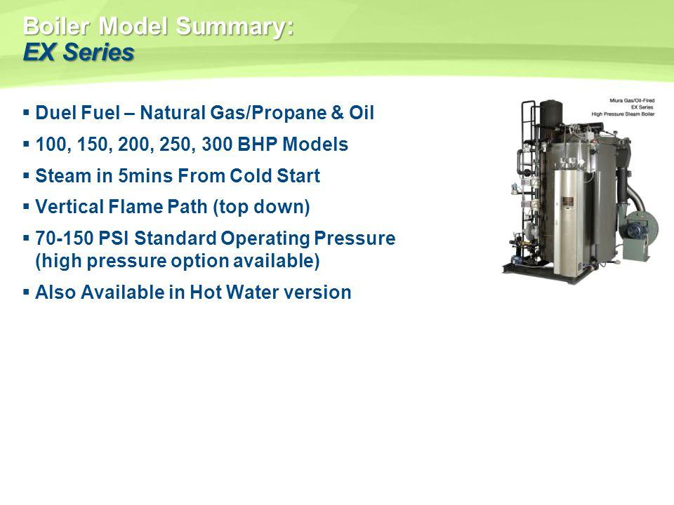 Boiler Model Summary: EX Series