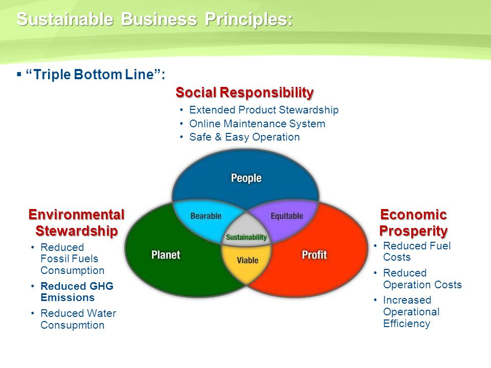 Sustainable Business Principles: