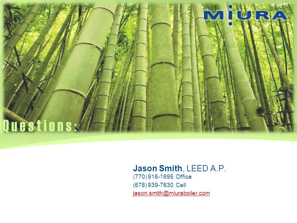 Questions: Jason Smith, LEED A.P. (770) 916-1695 Office