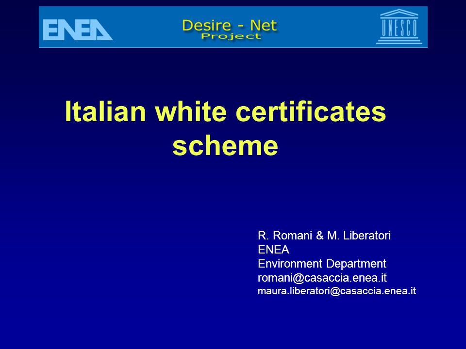 Italian white certificates scheme
