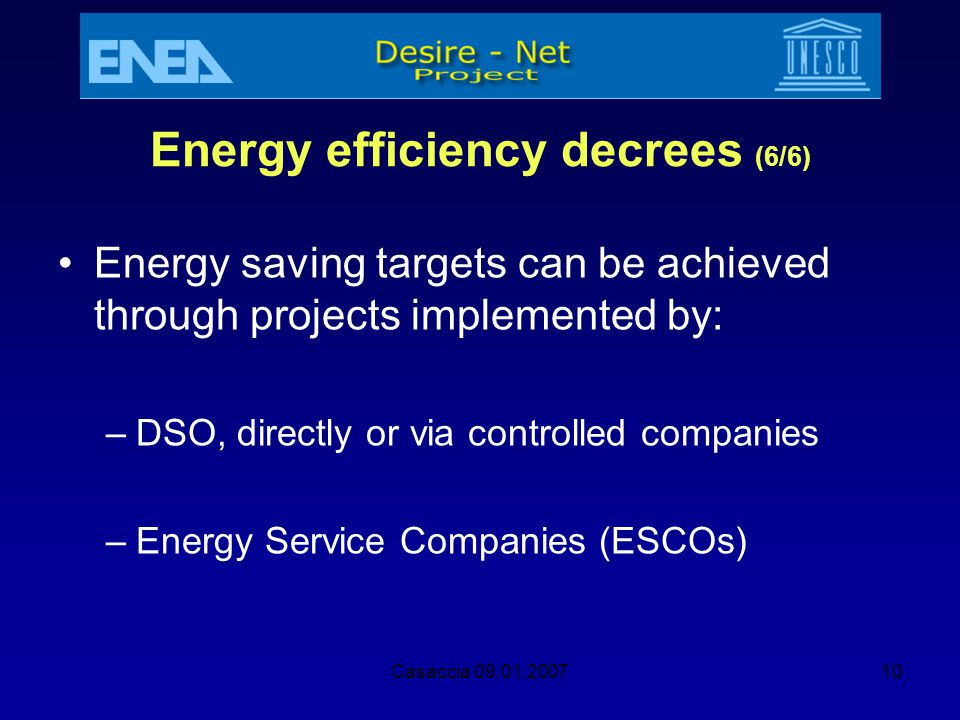 Energy efficiency decrees (6/6)