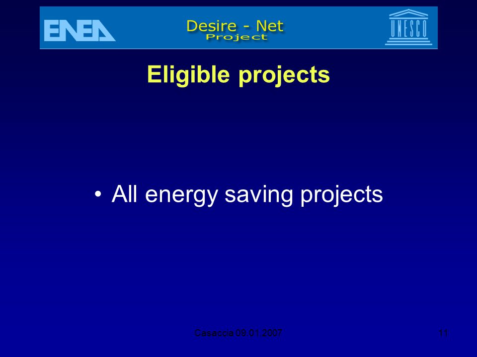 All energy saving projects
