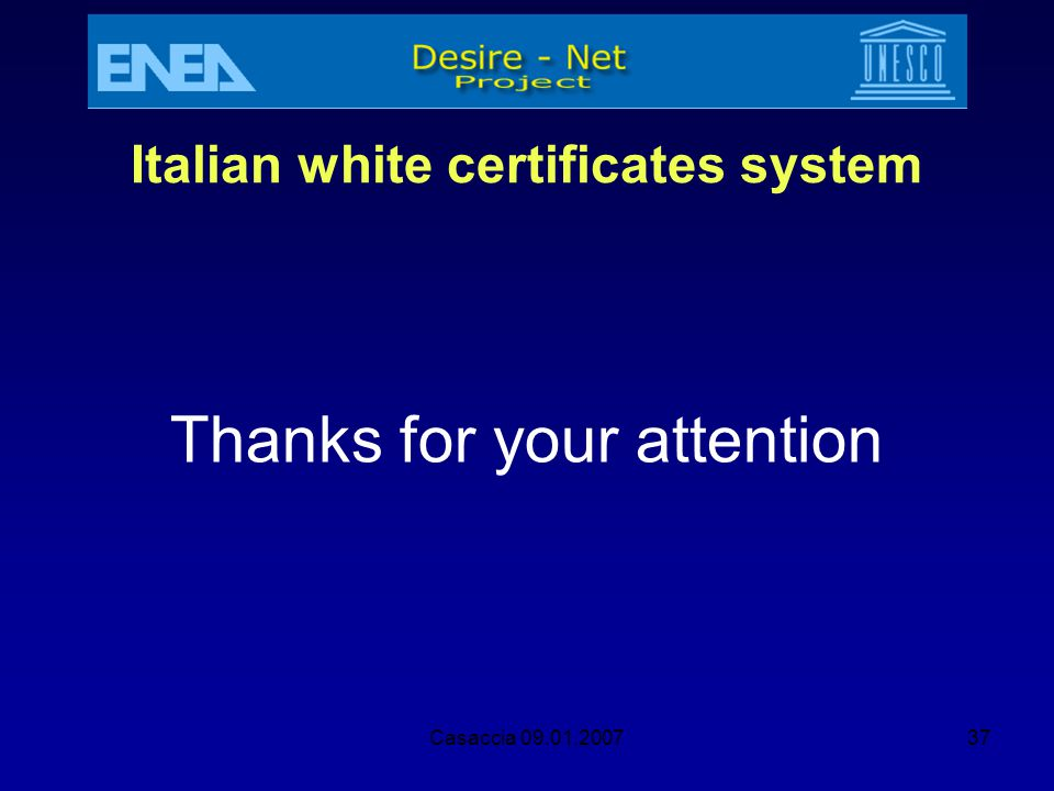 Italian white certificates system