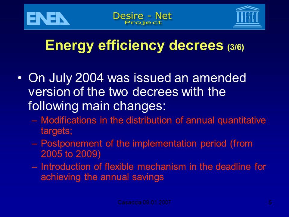 Energy efficiency decrees (3/6)