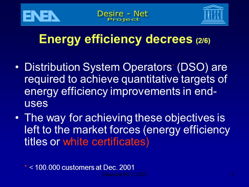Energy efficiency decrees (2/6)