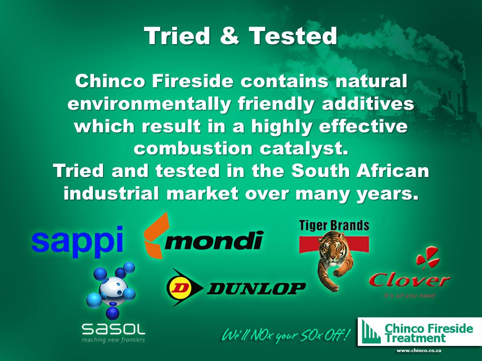Tried & Tested Chinco Fireside contains natural