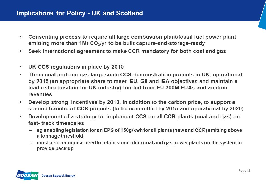A commensurate ambition for CCS in Scotland