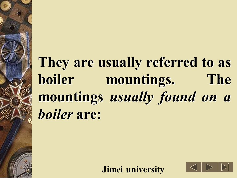 They are usually referred to as boiler mountings