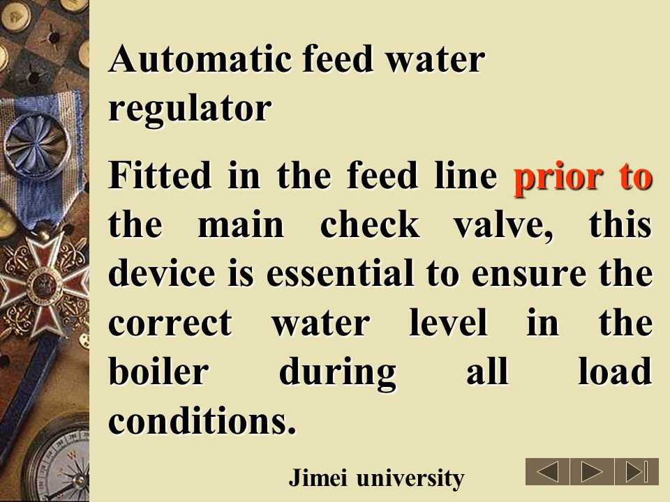 Automatic feed water regulator