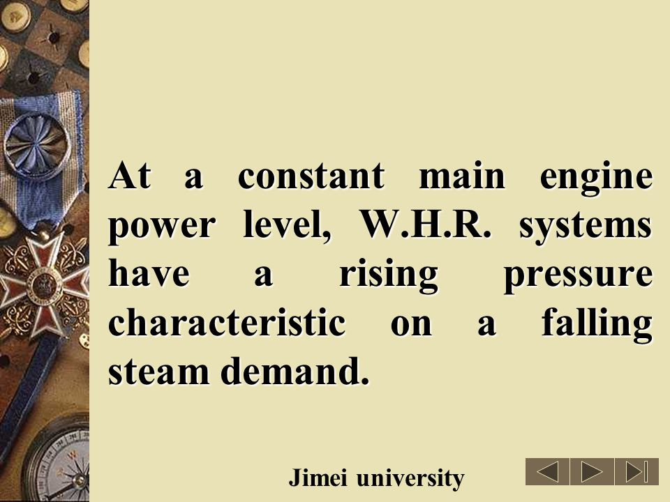 At a constant main engine power level, W. H. R