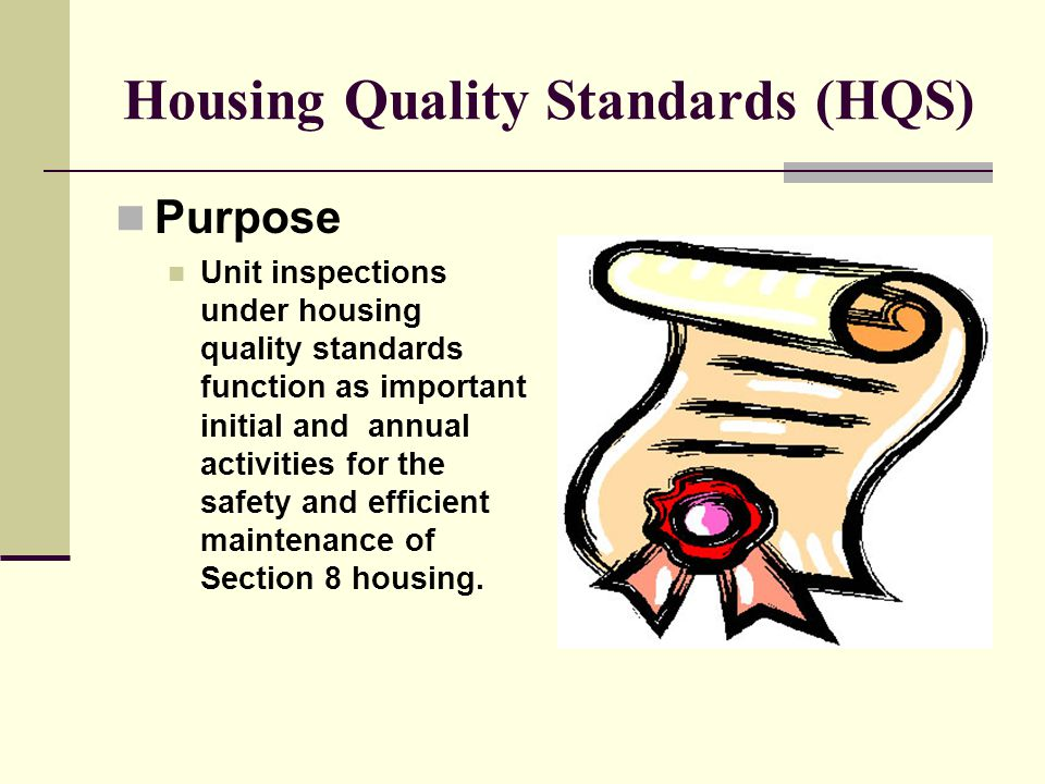 Housing Quality Standards (HQS)