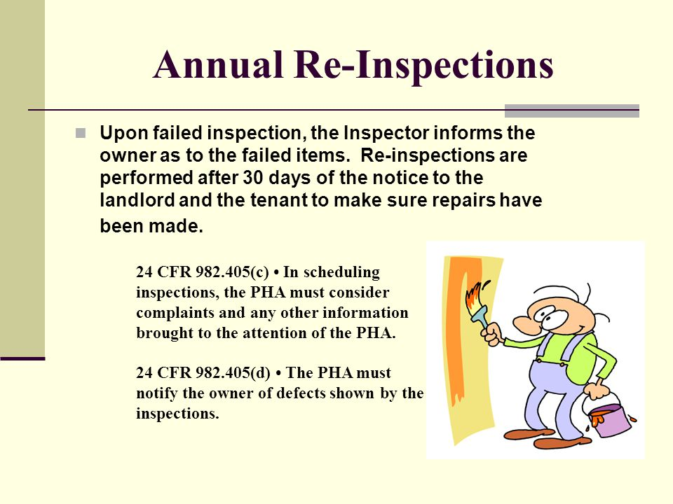 Annual Re-Inspections