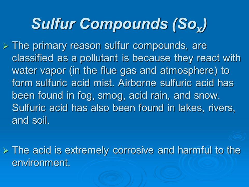Sulfur Compounds (Sox)