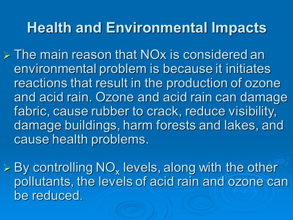 Health and Environmental Impacts