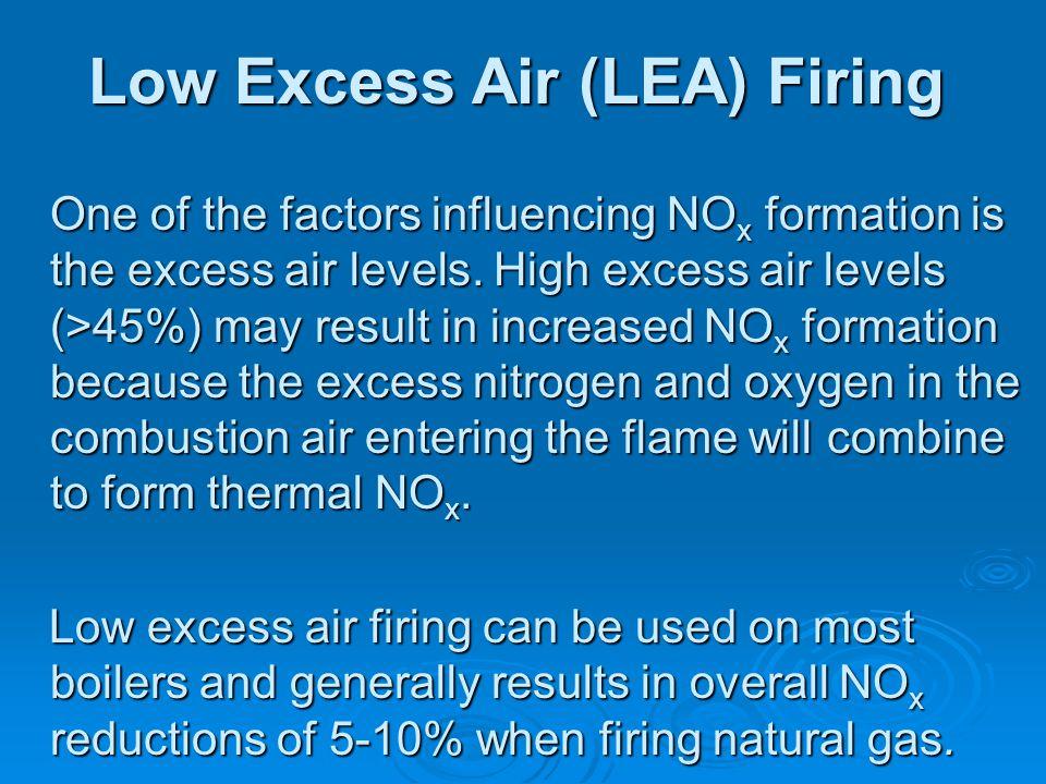 Low Excess Air (LEA) Firing
