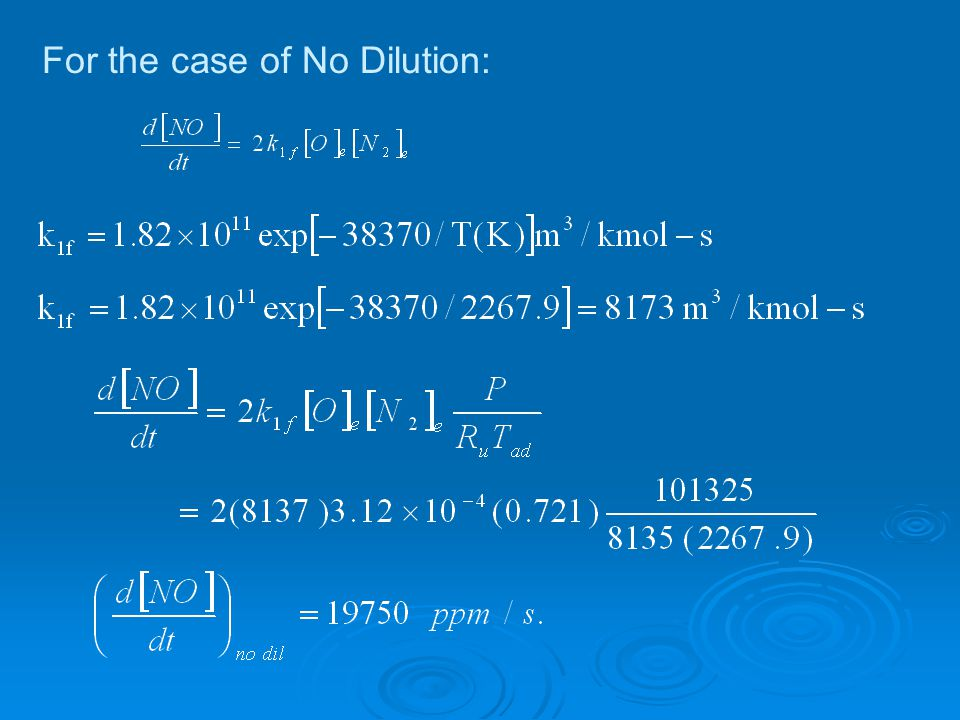 For the case of No Dilution:
