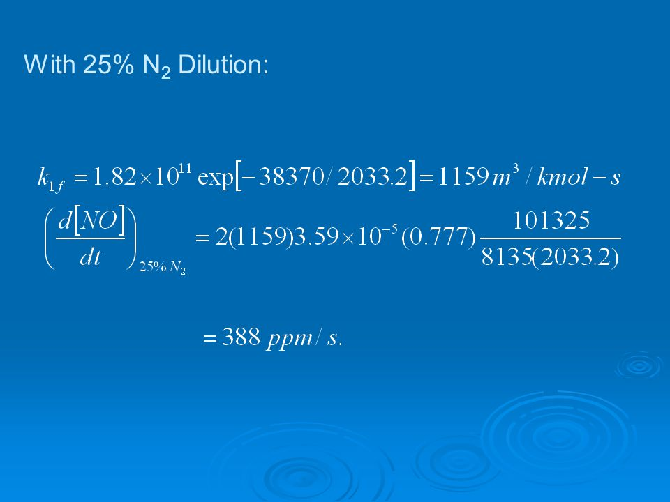 With 25% N2 Dilution: