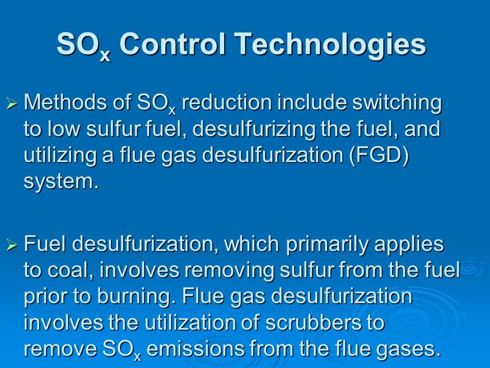 SOx Control Technologies