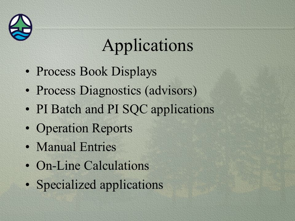 Applications Process Book Displays Process Diagnostics (advisors)