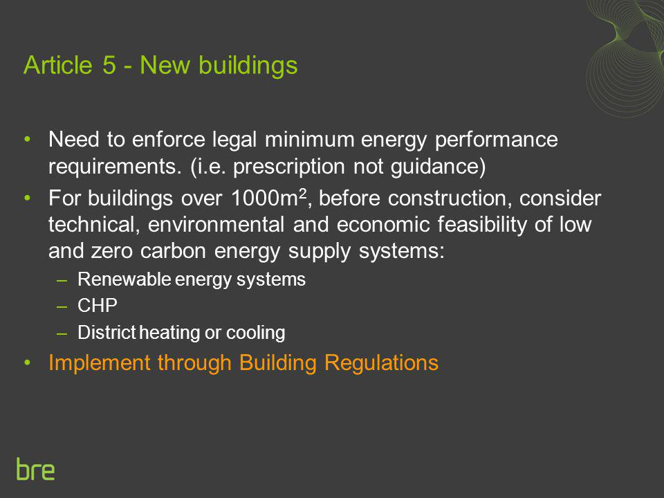 Article 5 - New buildings