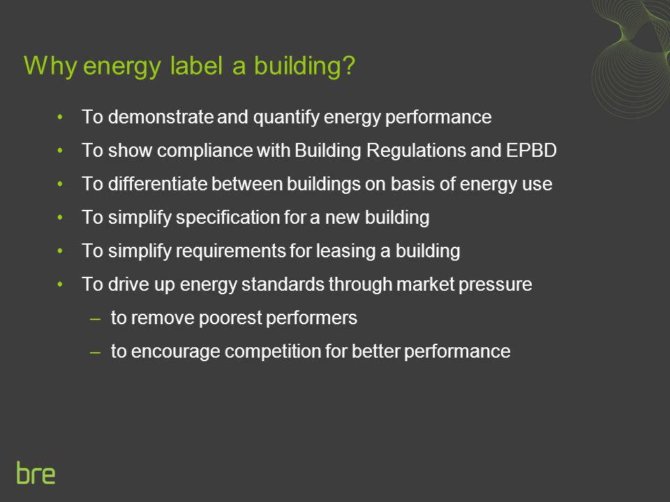 Why energy label a building