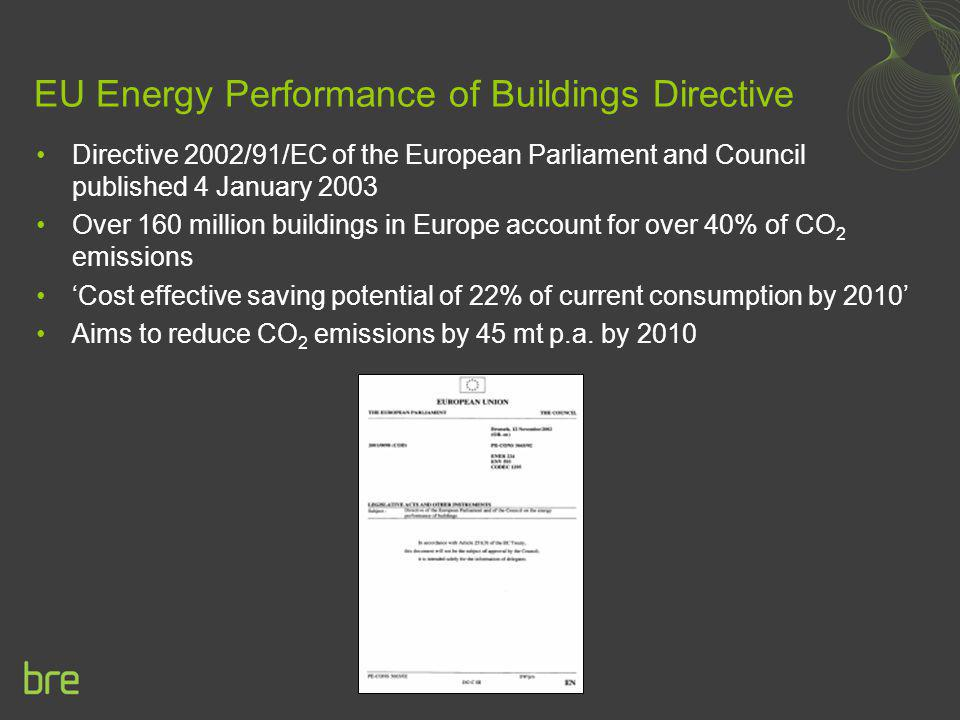 EU Energy Performance of Buildings Directive