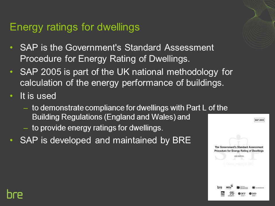 Energy ratings for dwellings