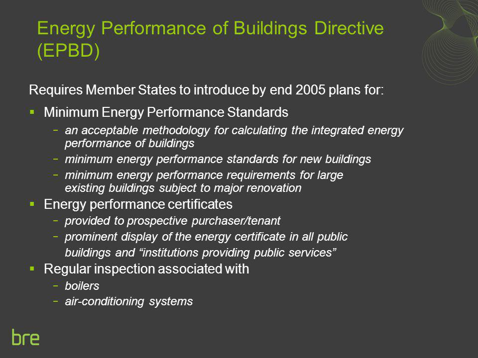 Energy Performance of Buildings Directive (EPBD)