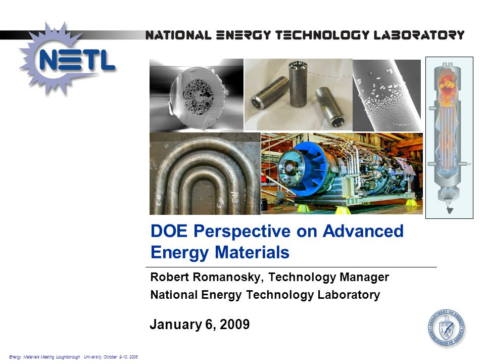 DOE Perspective on Advanced Energy Materials