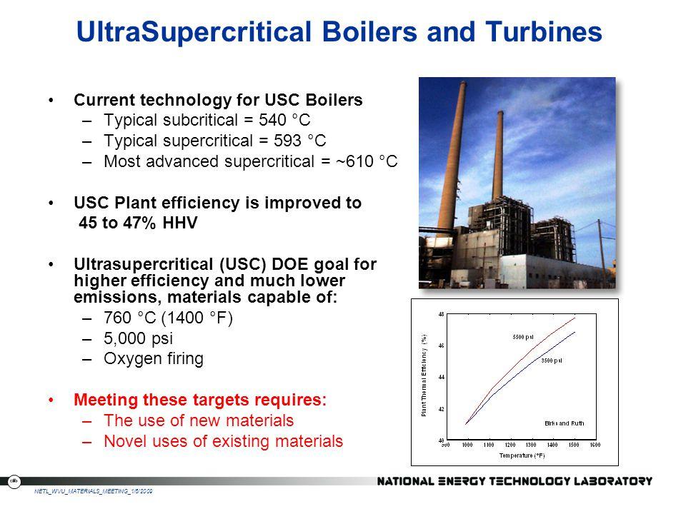 UltraSupercritical Boilers and Turbines