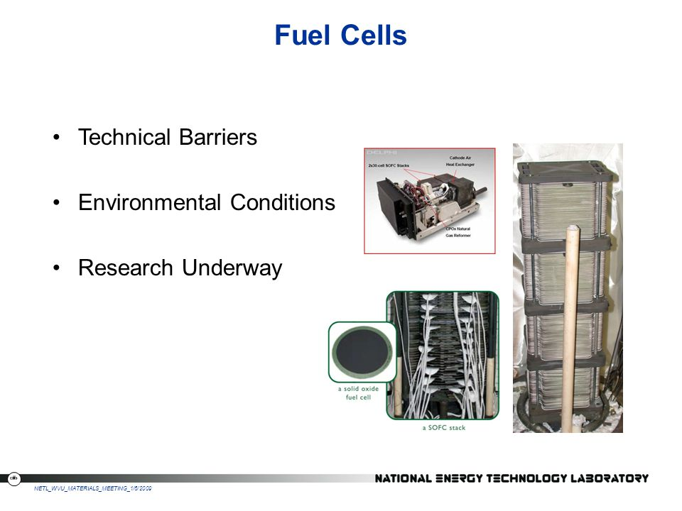 Fuel Cells Technical Barriers Environmental Conditions