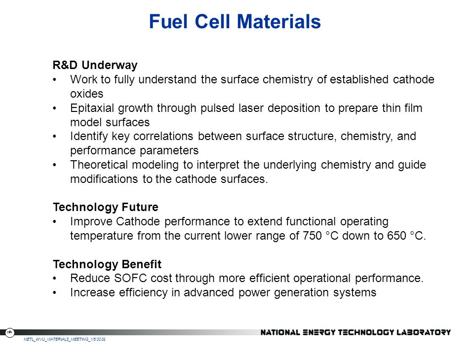 Fuel Cell Materials R&D Underway