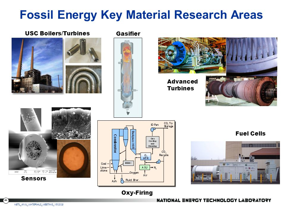 Fossil Energy Key Material Research Areas